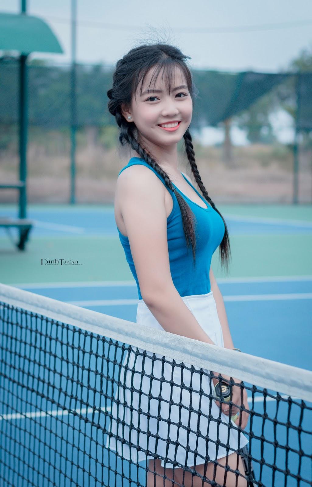 Dược Dược trong sáng và dễ thương trong album Tennis Sexy Girl