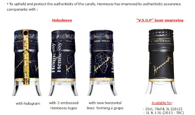 Hennessy VSOP New Bottle Characteristics