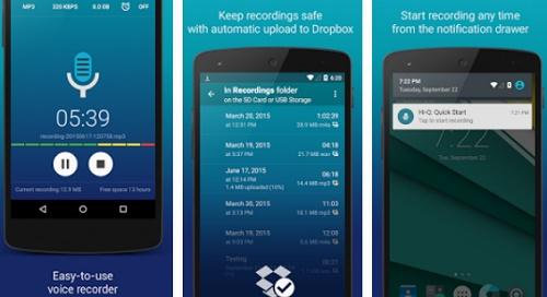 Aplikasi Android perekam suara format Mp3
