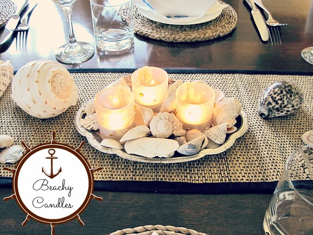 Beach Themed Party & Tablescape, Candles