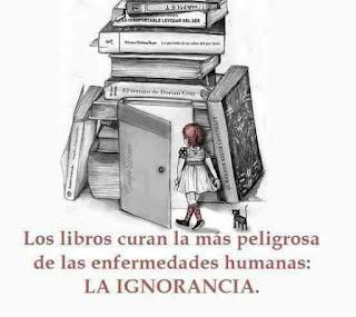 """""""Los libros curan la más peligrosa de las enfermedades humanas: la ignorancia"""" - Radko Tichavsky"""