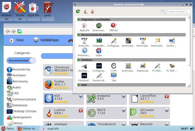 Sistema Operacional Unix moderno PC-BSD