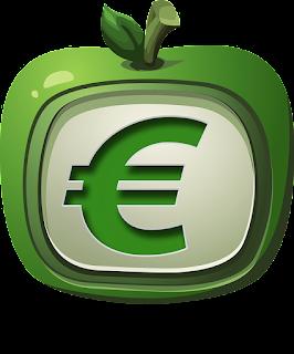 アップルの中にユーロ