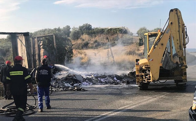 11 immigrants burned alive to death inside vehicle in Greece