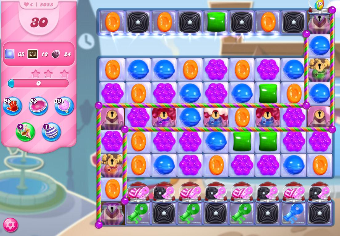 Candy Crush Saga level 5058