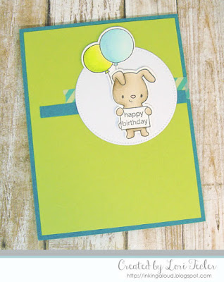 Birthday Bunny card-created by Lori Tecler/Inking Aloud-stamps from Hello Bluebird