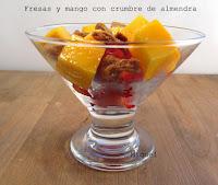 Fresas mango y cumbre de almendras