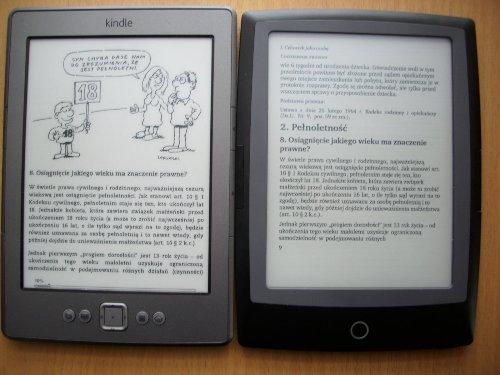 Cybook Frontlight HD vs Kindle, konwersja przez mejla vs reflow