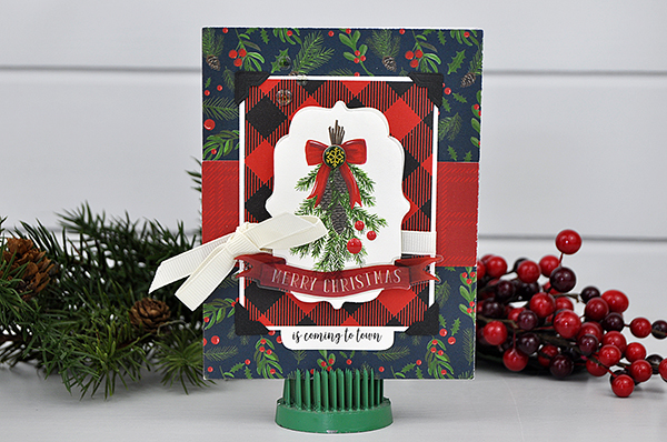 Merry Christmas card by Jen Gallacher for www.echoparkpaper.com. #echoparkpaper #christmascard #cardmaker #jengallacher