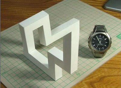 Figura imposible y la retícula isometrica.