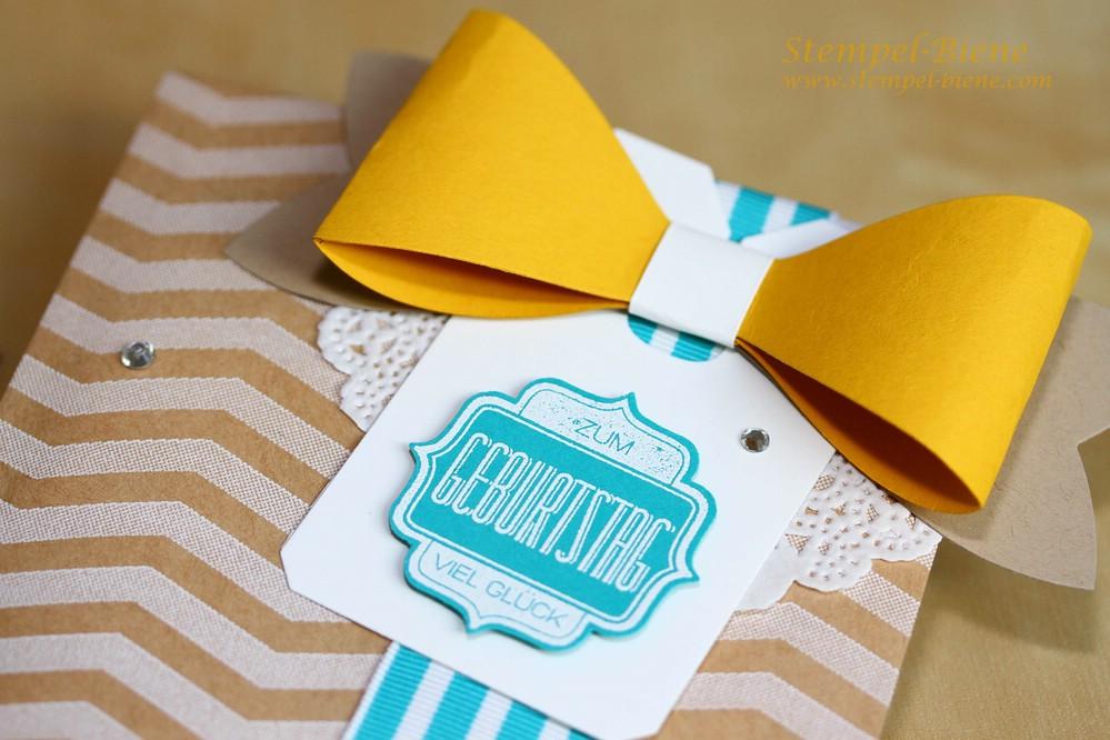 Stampin Up bestellen, Stampin up Bigz Geschenkschleife, Stampin Up Geschenktüten schnelle Überraschung, Stampin Up Sammelbestellung; Stampin up Geburtstagsgeschenk