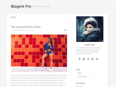 BlogInk Pro Pemium Responsive Blogger Template
