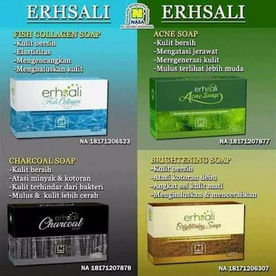 ERHSALI Brightening Soap - Mencerahkan dan Memutihkan Wajah
