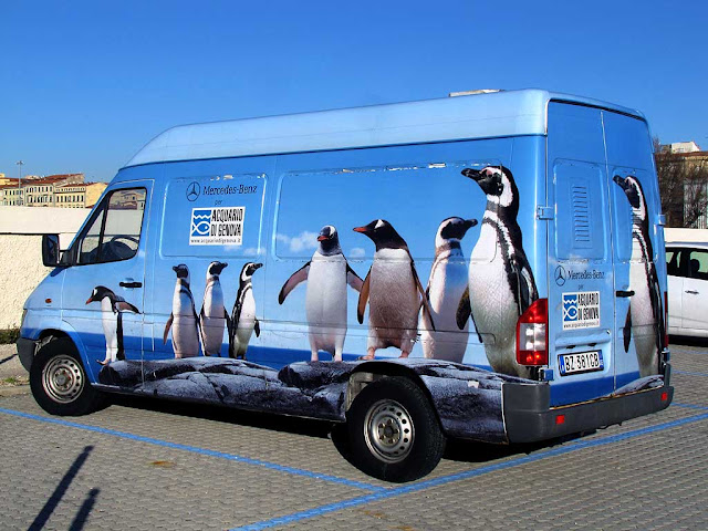 Van of the Aquarium of Genoa, Livorno