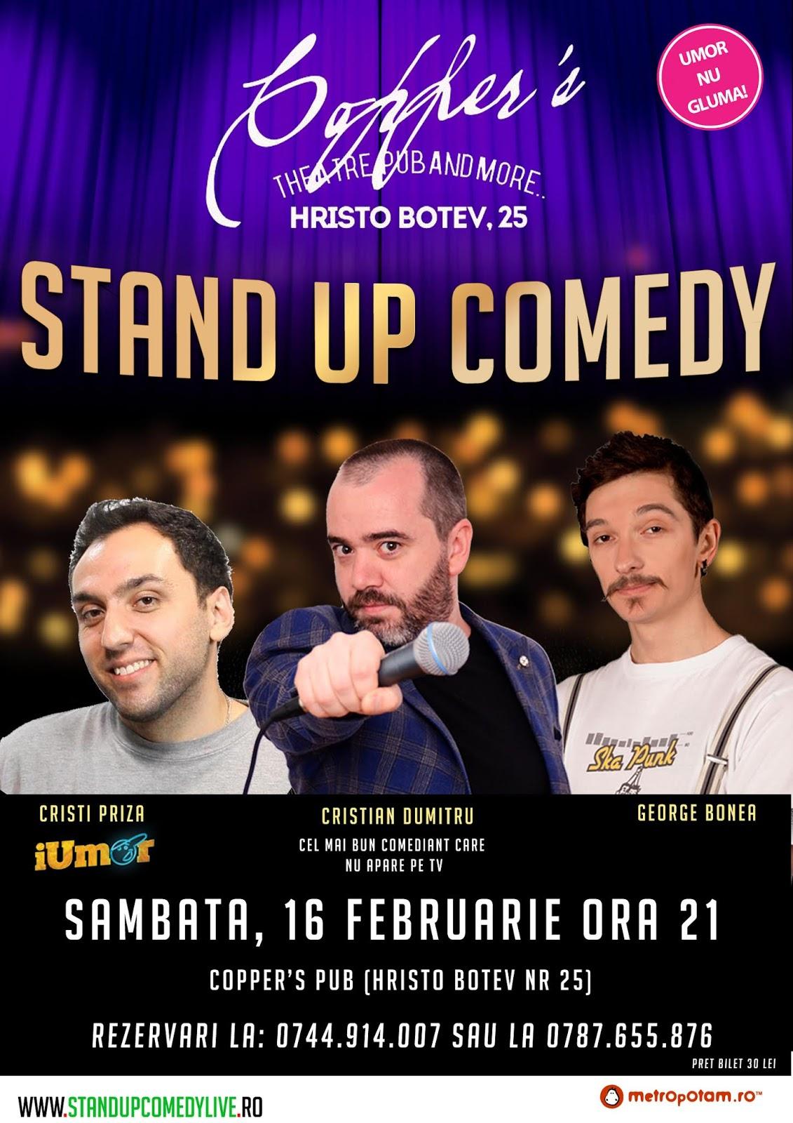 Stand-Up Comedy Bucuresti Sambata 16 Februarie 2019