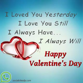 Valentines Day romantic quotes whatsapp dp