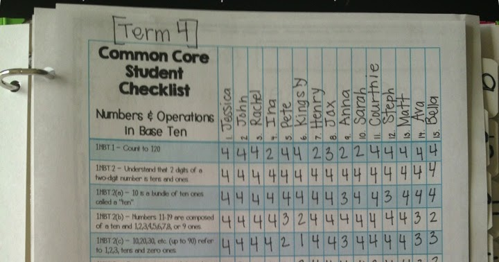 What The Teacher Wants Common Core Data Checklists