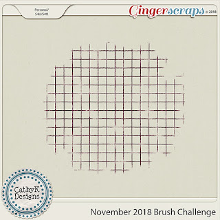 Creative Team, Annemarie, for GingerScraps -  Nearly Fall, Ooh La La Scraps November 2018 Brush Challenge and Freebie Brush