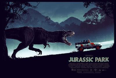 New York Comic Con 2018 Exclusive Jurassic Park Movie Poster Variant Screen Prints by Matt Ferguson x Bottleneck Gallery