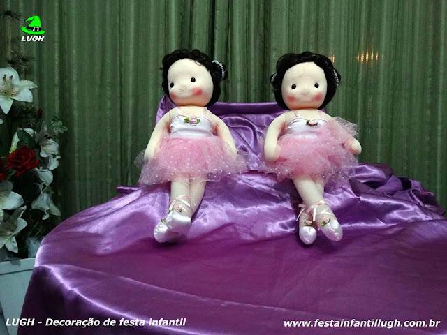 Bonecas para as decorações do tema Bailarinas