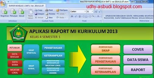 Aplikasi Rapor K-13 SD Dari Kemdikbud