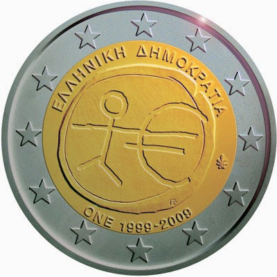 2 Euro Commemorative Coin Greece 2009 Economic Monetary Union