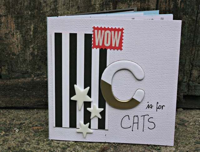Cats minialbum scrapbooking