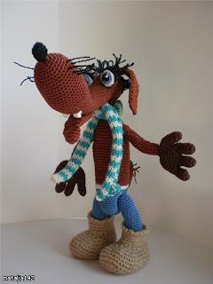 Вязаная крючком игрушка своими руками волк из мультфильма Буренка из Масленкина