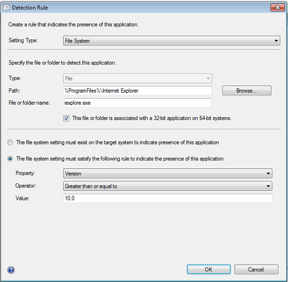 Internet Explorer 10 Silent Install & Configuration Manager Application Setup 1