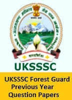UKSSSC Forest Guard Previous Year Question Papers