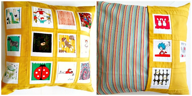 Puppilalla, Polaroid Patchwork, Pillowcase, Cushion,