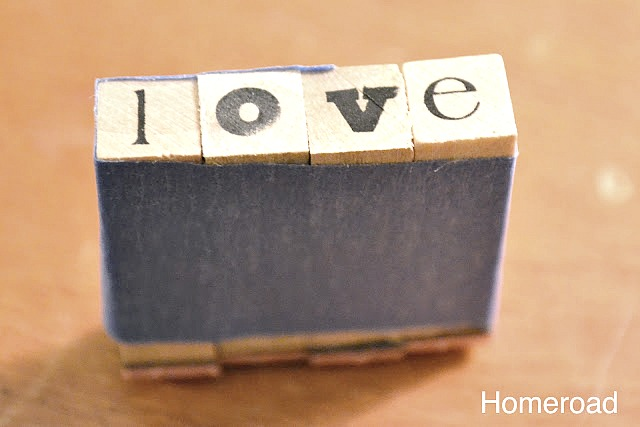 love stampers stamped on cotton ribbon