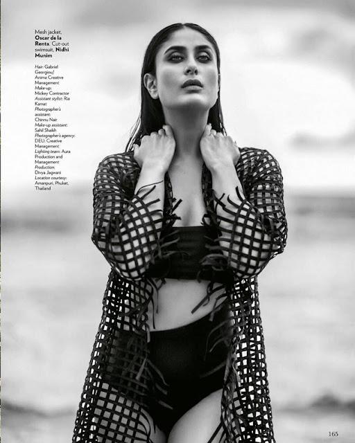 Kareena Kapoor Sexy Pose For Vogue Magazine