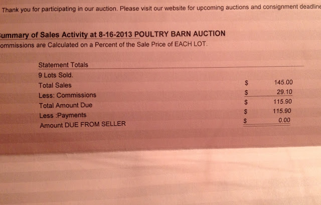 poultry auction payout