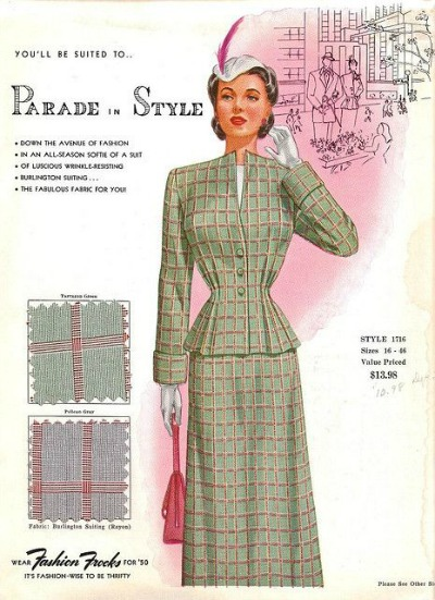 Fashion Frocks Style Card 1950's 'Parade in Style'