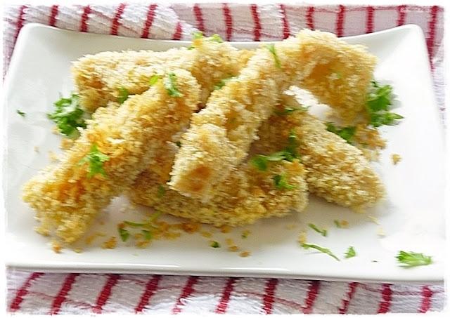 dish of crispy crumbed krumplinudli