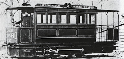 Bern streetcar around the time Einstein lived there