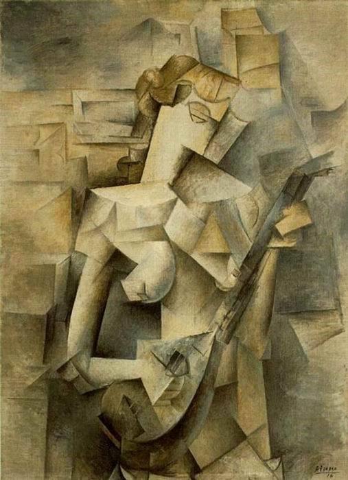 Пикассо «Играющая на мандолине»