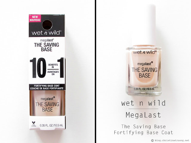 wet n wild 2017 collection MegaLast The Saving Base Fortifying Base Coat