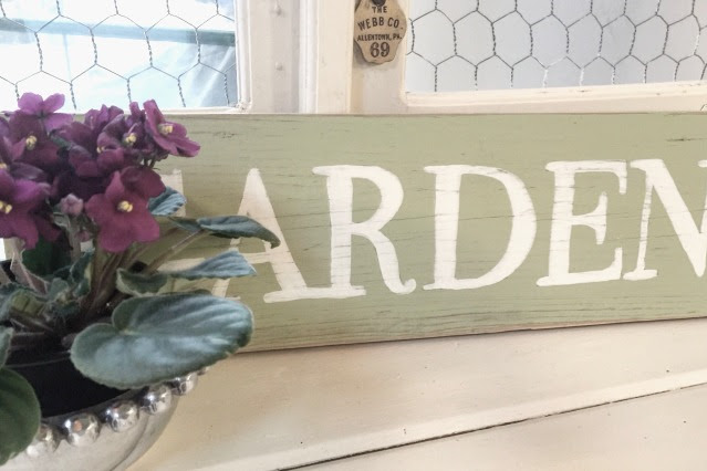 DIY Repurposed Antique Door Potting Bench
