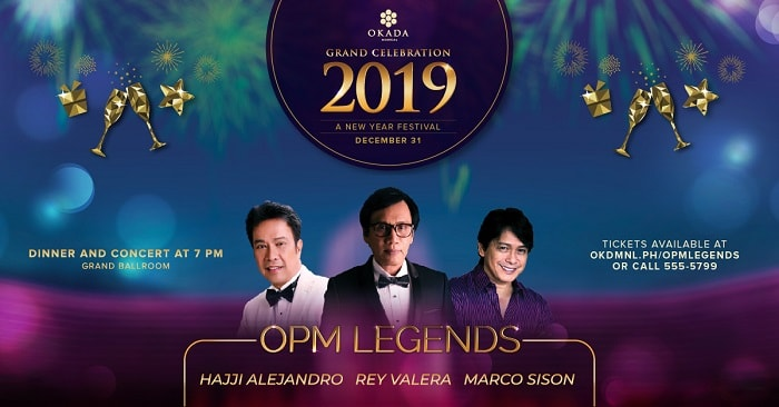 New Year's Countdown 2019 at Okada Manila