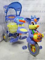 Sepeda Roda Tiga Royal RY8598C Baby Ball 2 Kursi dengan New Canopy