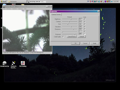 screen grab of camera sending a live view to Orion AmCap