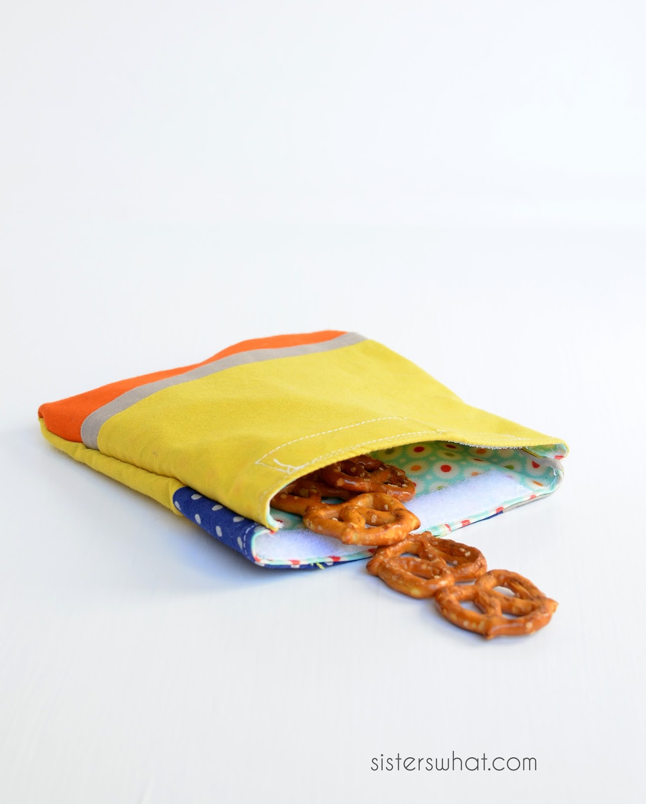 how to sew snack bags