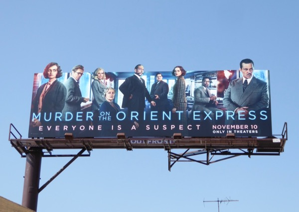 Murder on the Orient Express movie billboard