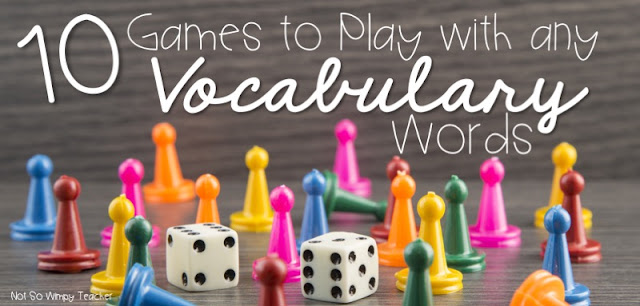 These vocabulary games are the perfect addition to your centers or word work! I have provided free printables and game pieces!