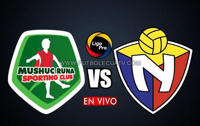 Mushuc Runa se enfrenta a El Nacional en vivo por la fecha dos del torneo ecuatoriano a efectuarse en el estadio Coop. de Ahorro y Crédito a partir de las 13h30 hora local, siendo el juez principal Carlos Orbe con emisión del medio oficial GolTV Ecuador.