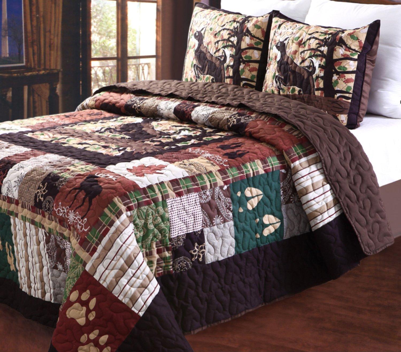 Rustic Lodge Log Cabin Themed Bedding Sets