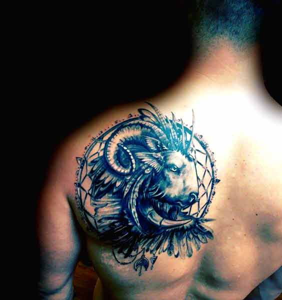 Best aries tattoos for back