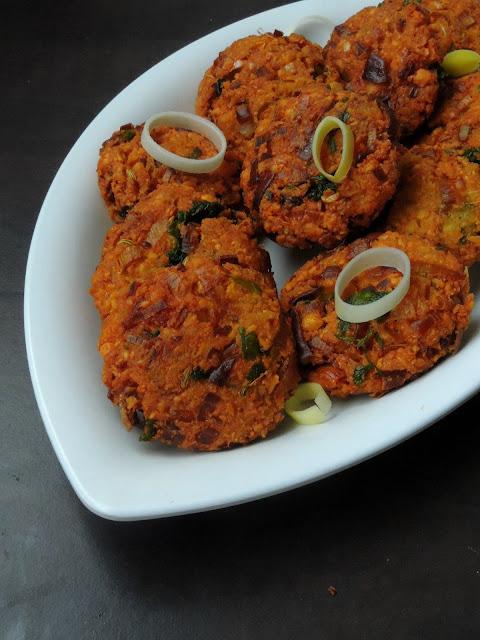 Vegan Leek masal Vadai, Leek ChannaDal Fritters